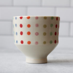 Tea Bowl - Candy Dot