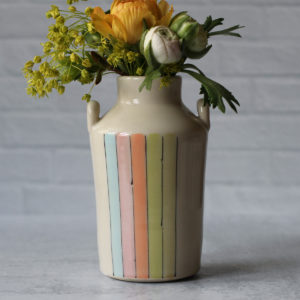 Neon Stripe Bottle Vase