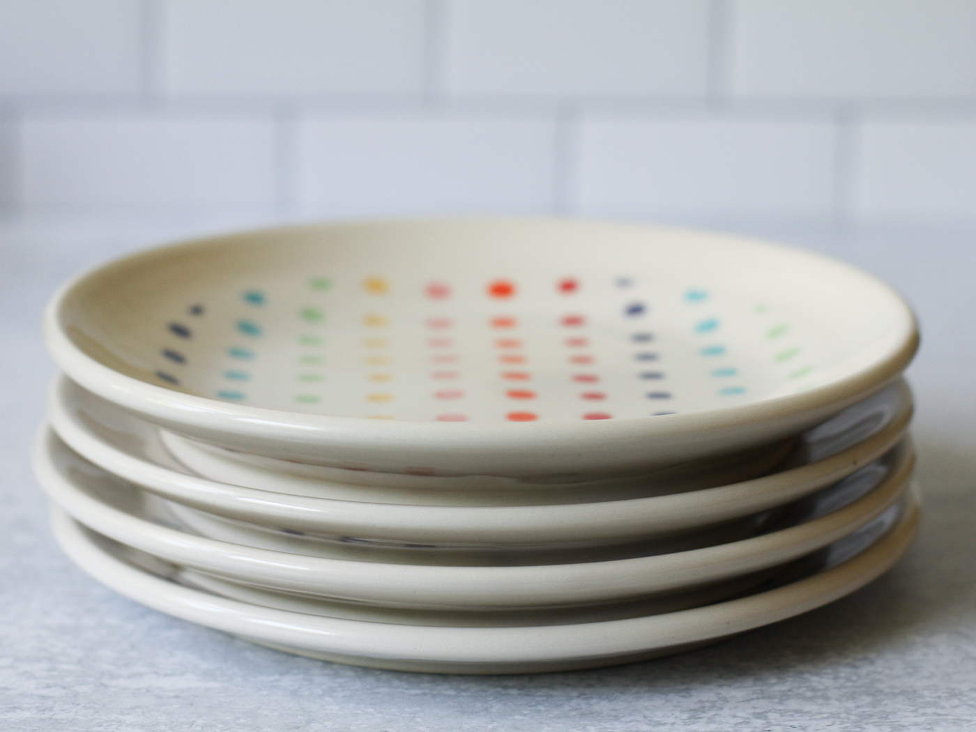 Side plate - 8-inch - candy dot